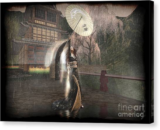 Holding Off The Storm Canvas Print