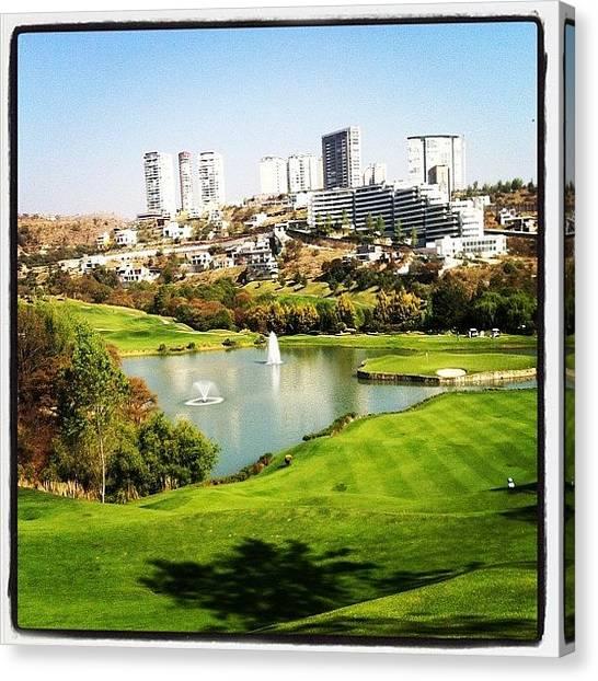 Golf Canvas Print - Hole 9 ⛳ by Leon Urfali