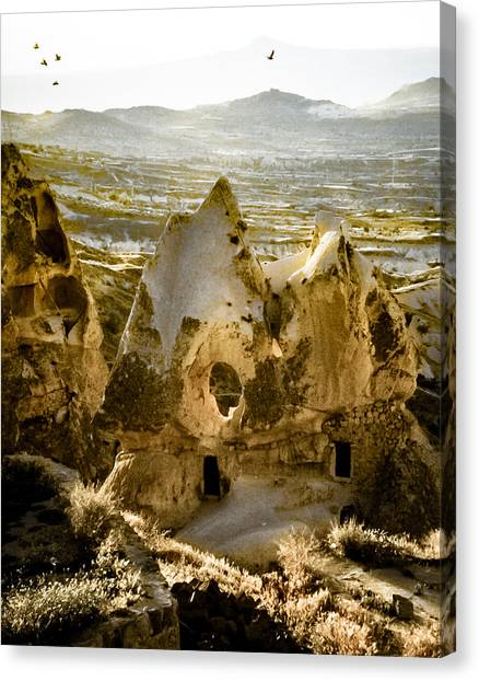 Canvas Print featuring the photograph Uchisar, Turkey - Hole by Mark Forte
