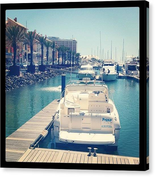 Yachts Canvas Print - #holiday #marina #sea #dock #yacht by Grace Shine