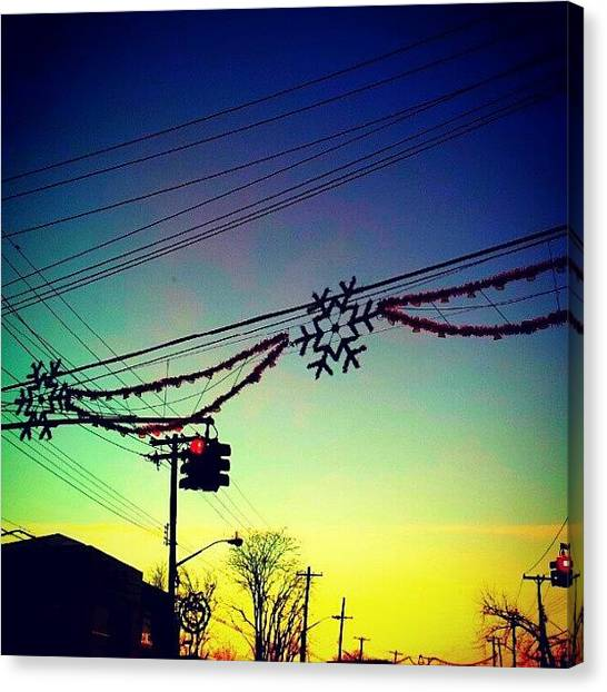 Snowflakes Canvas Print - Holiday Sunrise. #tremont by Radiofreebronx Rox
