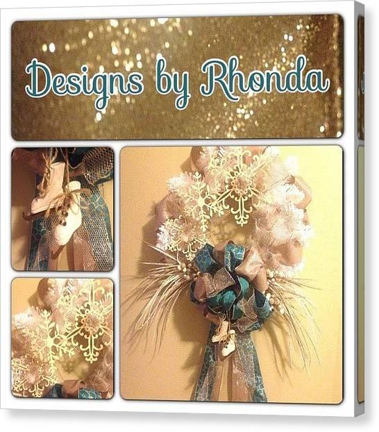 Wreath Canvas Print - #holiday #wreath #designsbyrhonda #diy by Designs by Rhonda