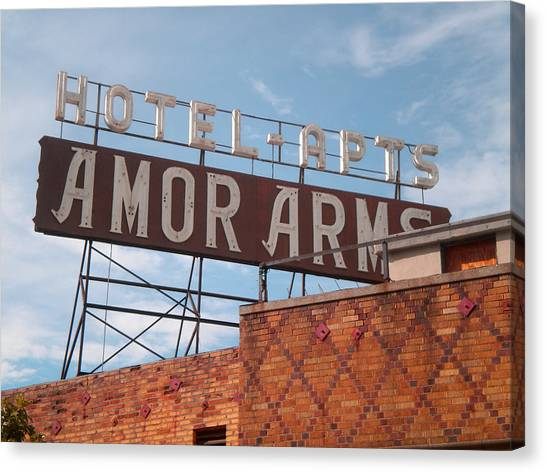 Hollywood Amor Arms Canvas Print