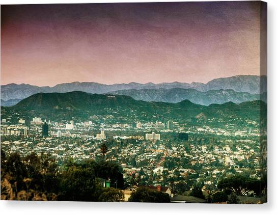 Hollywood At Sunset Canvas Print