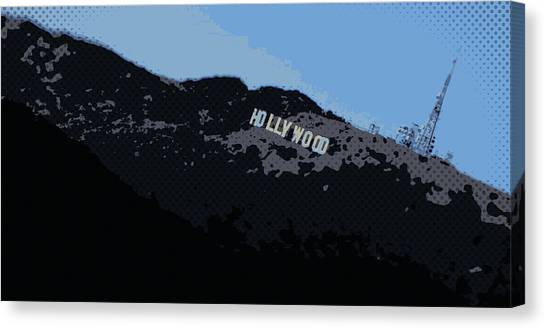 Hollywood Sign Canvas Print - Hollywood Pop Art by Brad Scott