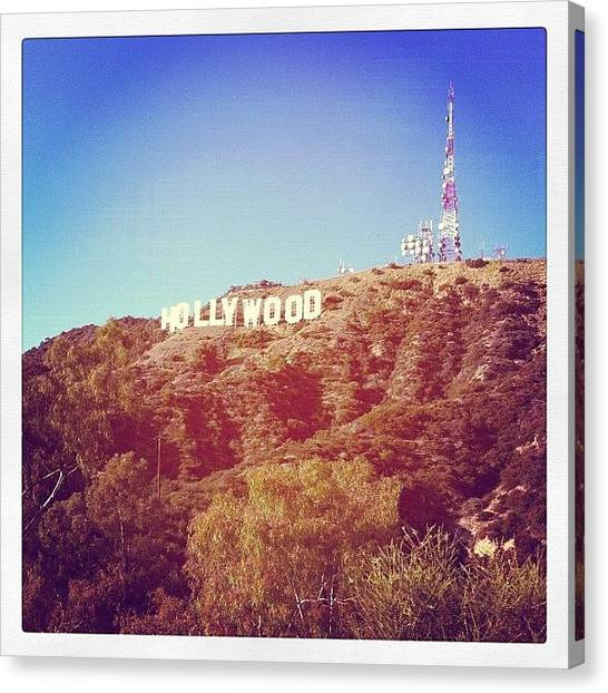 Hollywood Canvas Print - Hollywood Sign by Carlos Shabo