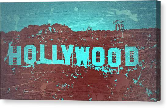 Hollywood Sign Canvas Print - Hollywood Sign by Naxart Studio