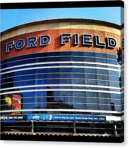 Stadiums Canvas Print - Home Of The Only 0-16 Team-detroit by Nish K.