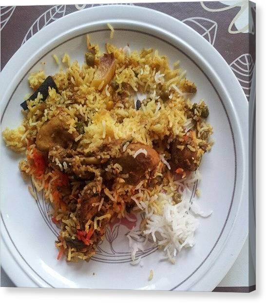 Indian Canvas Print - Homemade Chicken Biryani. #awesome by Mohsen Khan   Alexander Pathan Yusufzai