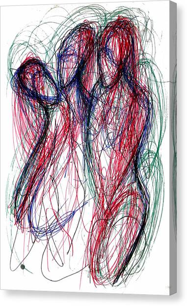 Homoline #30. Three Figures Canvas Print
