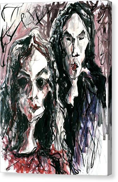 Homoline #36. Two Figures Canvas Print