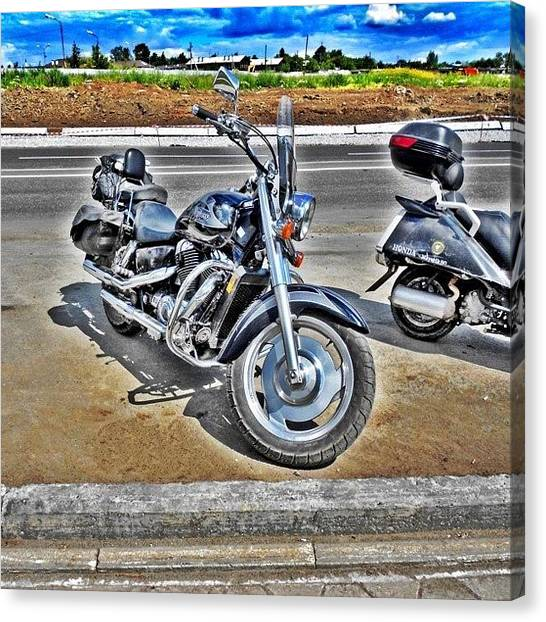 Russia Canvas Print - Honda Bike. #road #bike #travel by Igor Che 💎