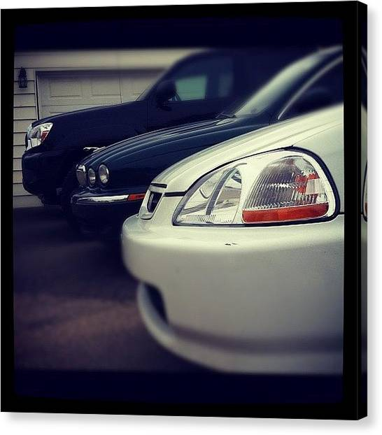 Toyota Canvas Print - #honda #toyota #jaguar #civic #tacoma by Sam Sana
