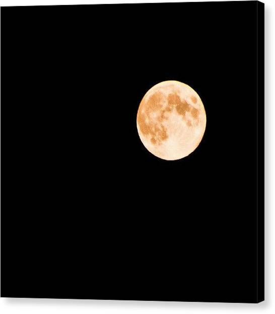 Harvest Canvas Print - Honey #harvest #moon. #astrography by Michael Squier