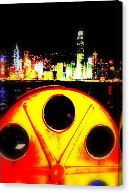 Shanghai Skyline Canvas Print - Hong Kong Skyline by Funkpix Photo Hunter