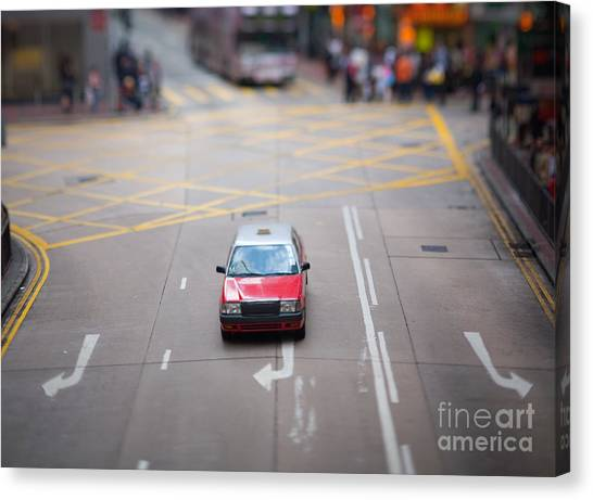 Pennington Bay Canvas Print - Hong Kong Taxicab by Ei Katsumata