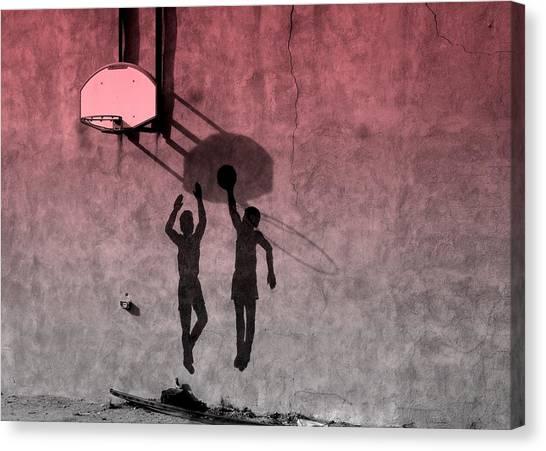 Hoop Boys Canvas Print