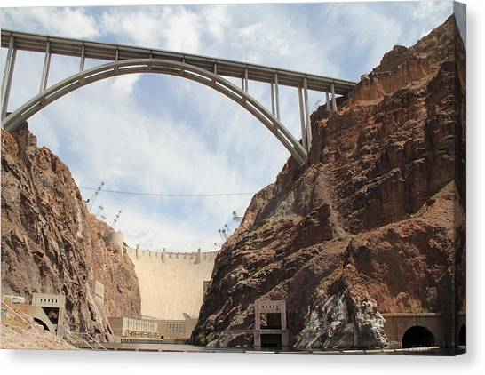 Hoover Dam Canvas Print by Kim French