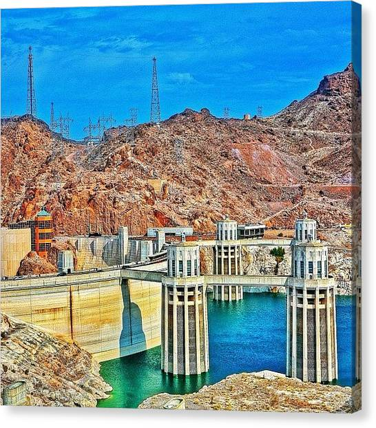Trip Canvas Print - Hoover Dam, Once Known As Boulder Dam by Tommy Tjahjono