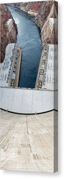 Mountain West Canvas Print - Hoover Dam Panorama by Twenty Two North Photography
