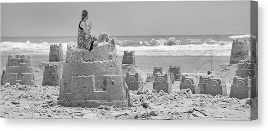 Sand Castles Canvas Print - Hope by Betsy Knapp