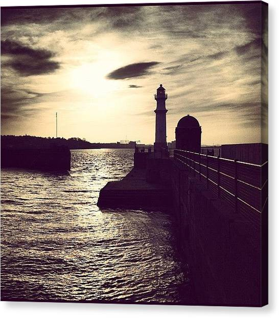 Lighthouses Canvas Print - Hope That Wasn't The Summer In by Sarah Drummond