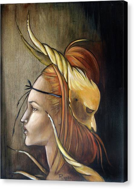 Horned Beast Canvas Print by Jacque Hudson