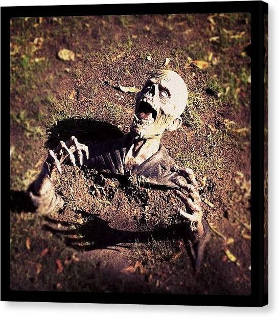 Halloween Canvas Print - Horrifying! #halloween #iphoneography by Chuck Oliva