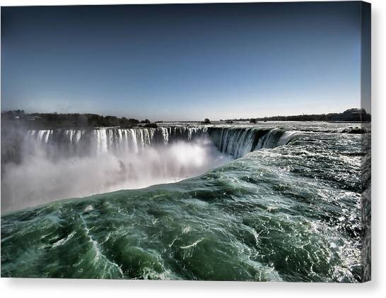 Horseshoe Falls Canvas Print - Horseshoe Waterfalls At Niagara Falls by Busà Photography