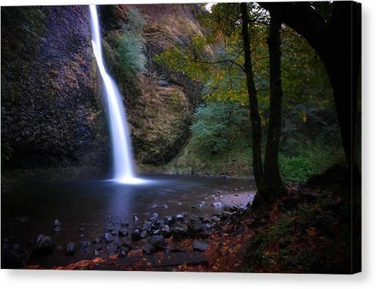 Canvas Print featuring the photograph Horsetail Falls by Matt Hanson