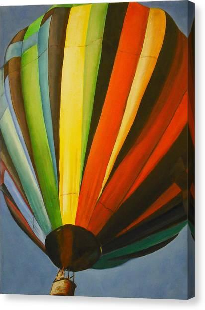 Hot Air Balloon Canvas Print by Jessica J Murray