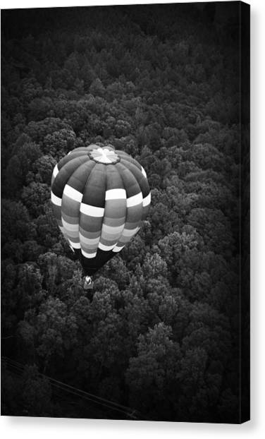 Canvas Print featuring the photograph Hot Air Balloon by Kelly Hazel
