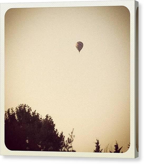 Hot Air Balloons Canvas Print - #hot #air #balloon by Megan Rowley