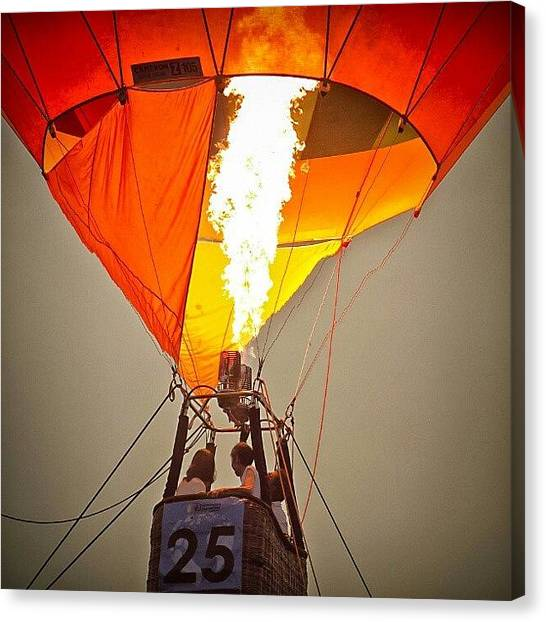 Hot Air Balloons Canvas Print - Hot Air Balloon Rides @putrajaya by Manan Din
