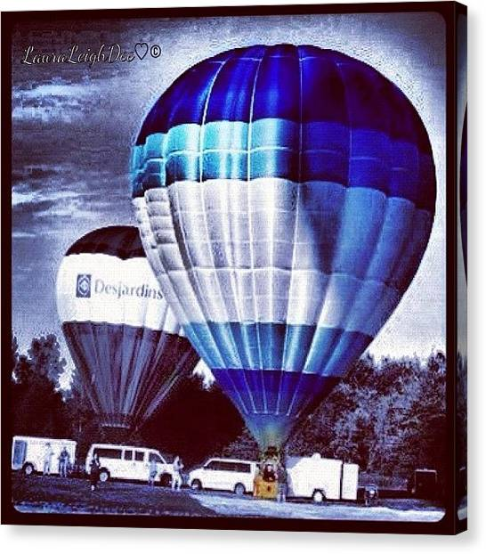 Hot Air Balloons Canvas Print - Hot Air Ballooning 2011 by Laura Douglas