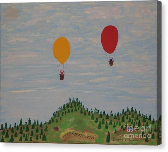 Hot Air Balloons Canvas Print by Gregory Davis