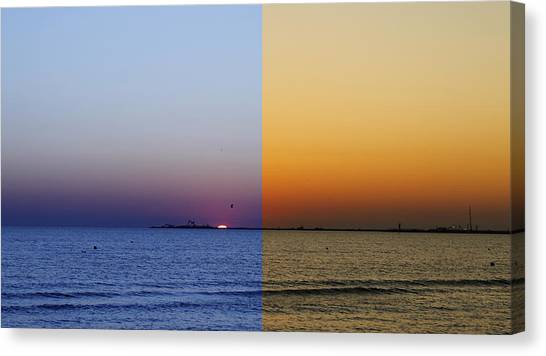 Sunrise Horizon Canvas Print - Hot And Cold by Steve K