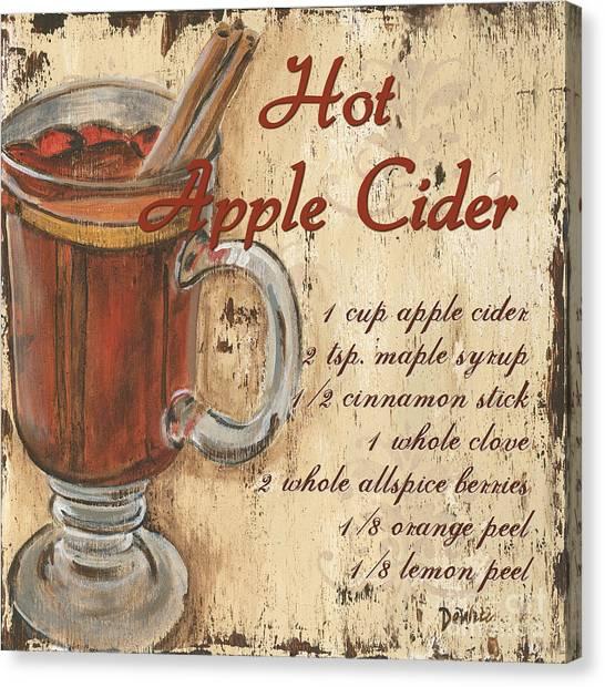 Cider Canvas Print - Hot Apple Cider by Debbie DeWitt