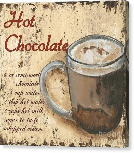 Milk Canvas Print - Hot Chocolate by Debbie DeWitt