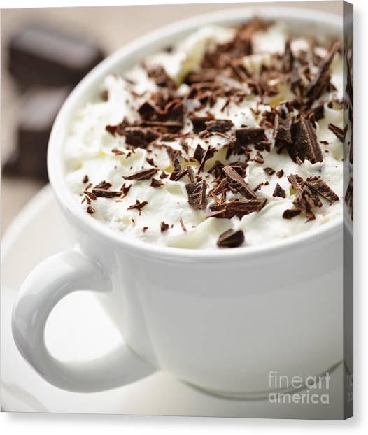 Beverage Canvas Print - Hot Chocolate by Elena Elisseeva