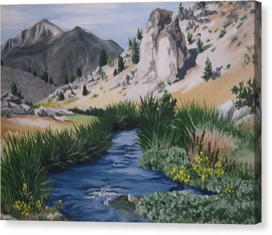 Hot Creek Canvas Print