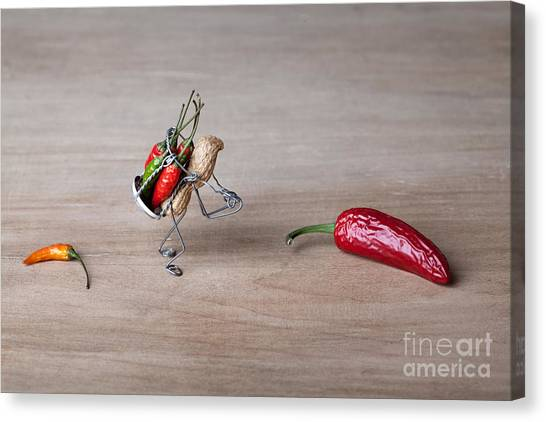 Hot Dogs Canvas Print - Hot Delivery 01 by Nailia Schwarz