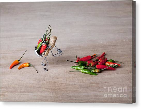 Weird Canvas Print - Hot Delivery 02 by Nailia Schwarz