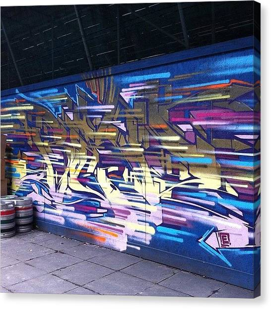 London Tube Canvas Print - #hot #graf #colour #art #bristol by Nigel Brown