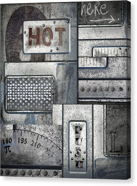 Global Warming Canvas Print - Hot Here by Carol Leigh