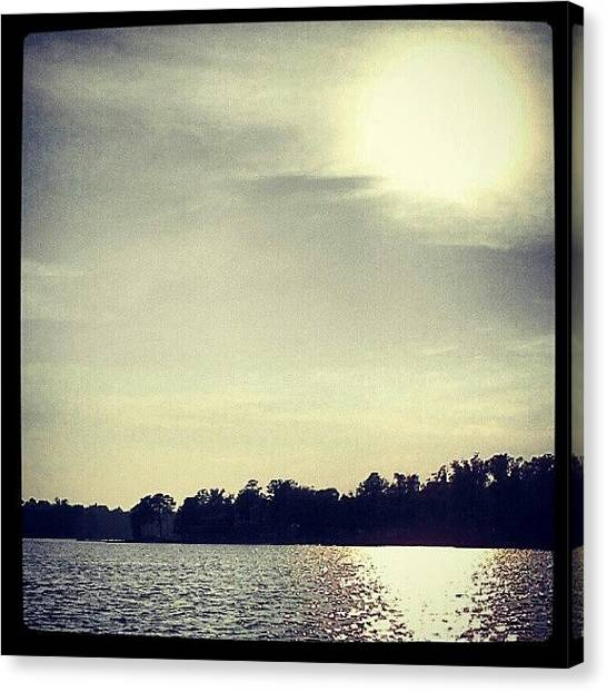 Lake Sunrises Canvas Print - Hot Out Today by Kyle Manaa