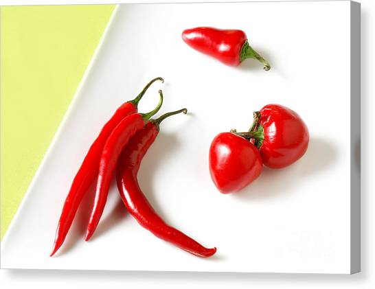 Hot Peppers Canvas Print by HD Connelly