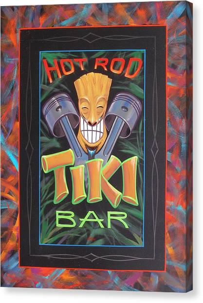 Hot Rod Tiki Bar Canvas Print