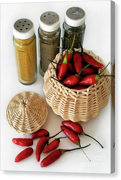 Hot Sauce Canvas Print - Hot Spice by Carlos Caetano