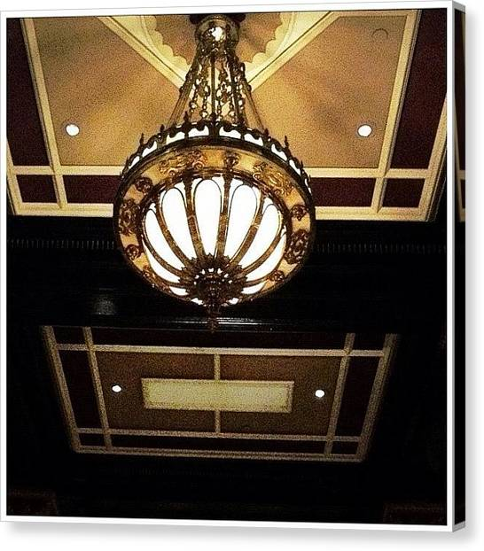Hotels Canvas Print - Hotel Chandelier by Natasha Marco